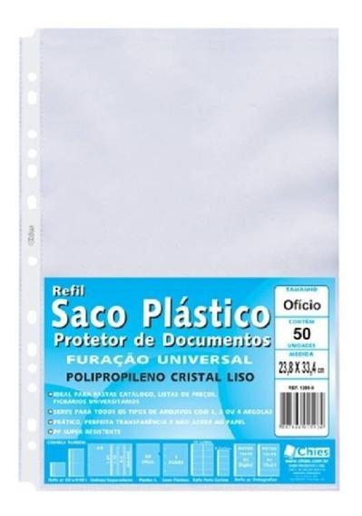 Refil Plástico 13 Furos Oficio Com 50 Un. 1380-9 Chies 10589