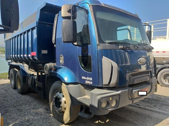 Ford Cargo 2629 2013 Azul Traçado 6x4 Com Caçamba 14m3