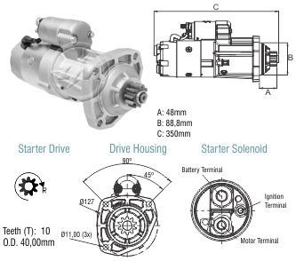 Motor Part.lucas John Deere 6605/7705