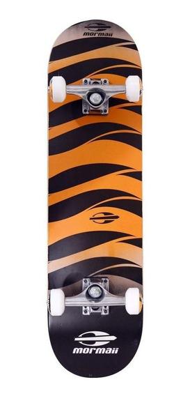 Skate Skateboard Alpha Laranja Maple Abec-5 Mormaii