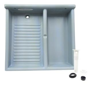 Tallador Lavadero Con Deposito Plastico Doble Lava Wash