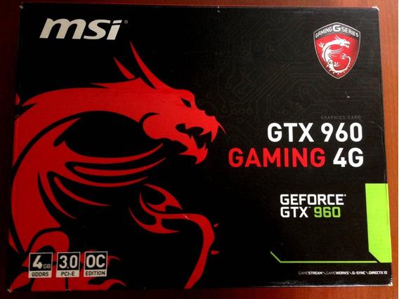 Caja De Placa De Video Msi Gtx 960 Gaming 4g Solo Caja