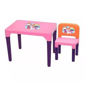 Mesa E Cadeira Uni Rosa Menina Multibrink - Idade 3 A 5 Anos