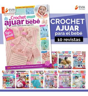 Bebés Crochet Ajuar Prendas - 10 Revistas-