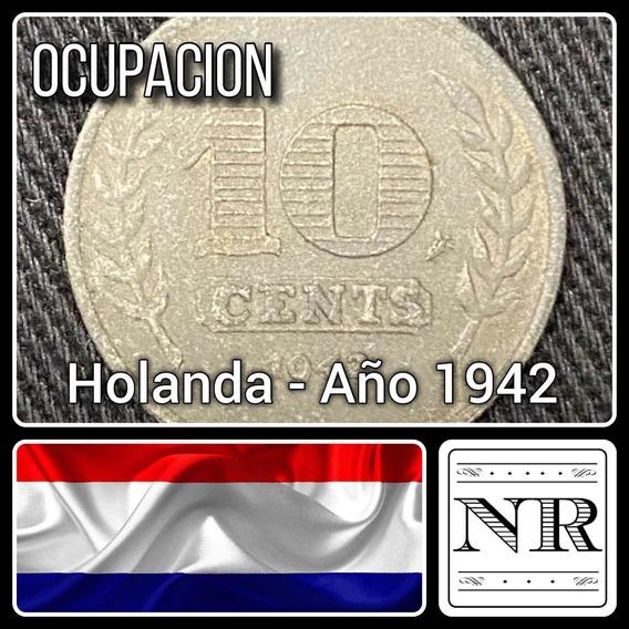 Holanda - 10 Cents - Año 1942 - Km # 173 - Ocupación