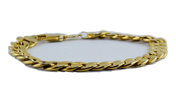 Brazalete Pulsera Esclava Barbada Oro 10 K 20cm 3mm Y 2.3g
