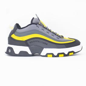 Tenis Dc Shoes Legacy Og Cinza/amarelo Original Frete Gratis
