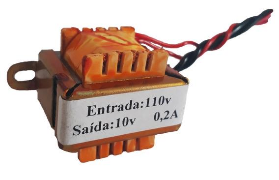 Transformador 10v Entrada:110+110v Saída: 10v 0,2a