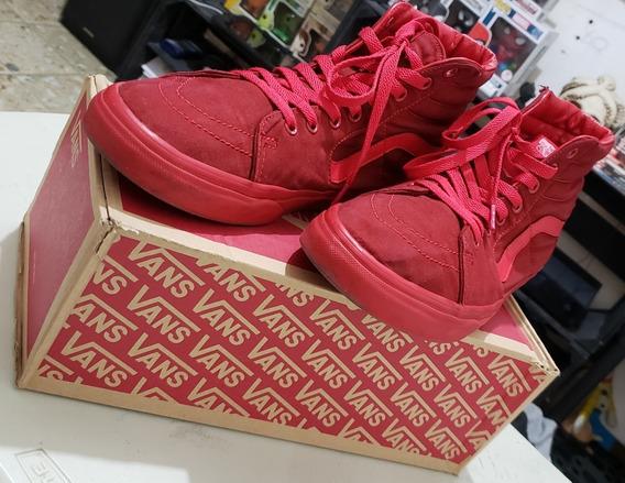 Bota Vans Old Skool Uni Sk8-hi Slim Red