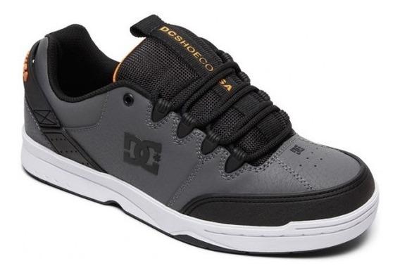 Zapatillas Dc Shoes Mod Syntax Gris Naranja Coleccion 2020