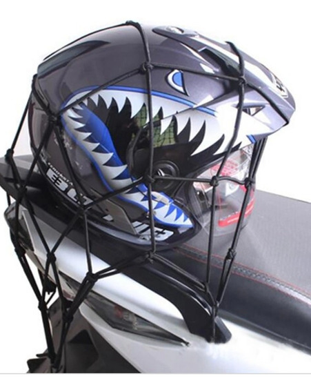 12 Redinh Aranha Capacete Rede Pra Moto Prendedor Capacete!