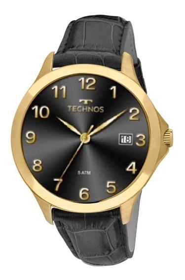 Relógio Technos Masculino Classic 1s13cl/2p Dourado Couro Pr