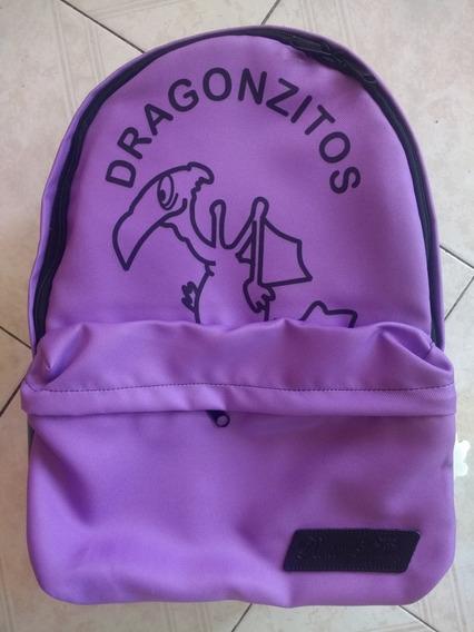 Mochila Escolar Dragonzitos Morada Envío Gratis