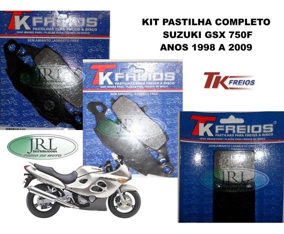 Pastilha De Freio Suzuki Gsx 750 F Anos 1998-2009 Tk-freios