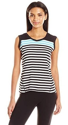Camiseta Con Capucha Calvin Klein Mujer A Rayas Original
