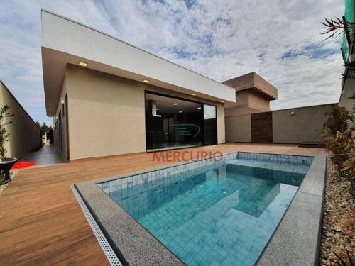 Casa Com 3 Dormitórios À Venda, 204 M² Por R$ 1.450.000,00 - Vila Santista - Bauru/sp - Ca3315