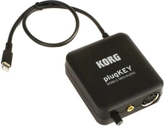 Interface Midi Y Audio iPhone iPad Korg Plugkey Negro