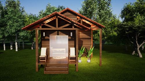 Imagem 1 de 6 de Projeto Arquitetônico Chalé 20m²