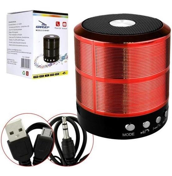 Caixa Som Bluetooth D-bh887 5w Sd/p2/usb Grasep