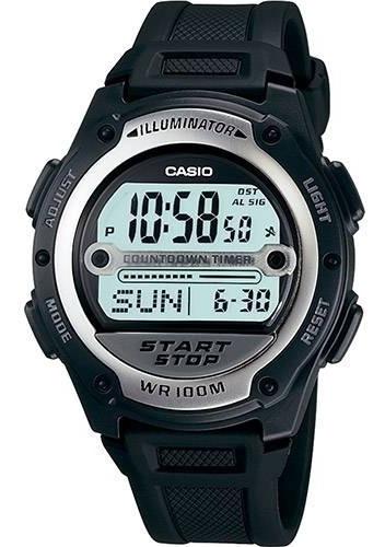 Relógio Casio Masculino Digital W-756-1avdf Resiste A 100m