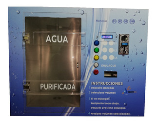Vending Despachador De Agua Da Cambio, Llena Y Enjuaga