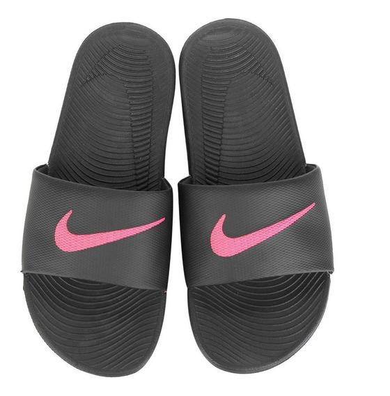Chinelo Nike Kawa Slide Preto E Rosa