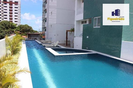 Apartamento Residencial Com 03 Qtos S/01 Suite,para Locação, Bairro Dos Estados, João Pessoa. - Ap4917