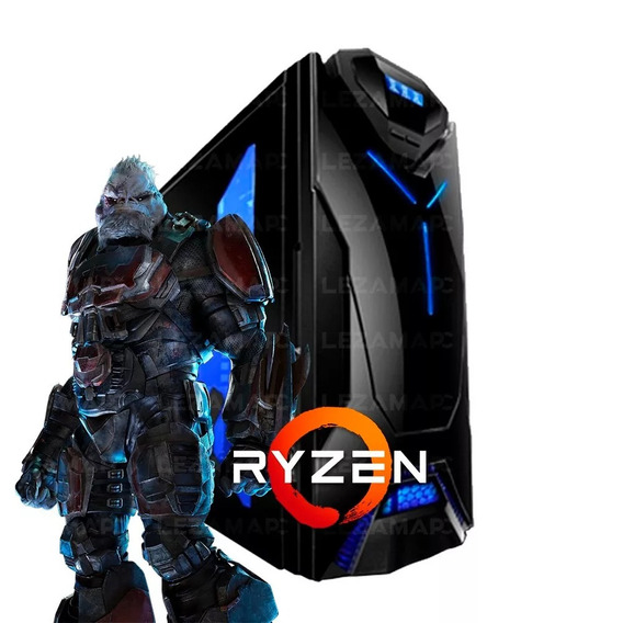 Pc Gamer Ryzen 5 2400g Gtx 1050 Ti 8gb Ddr4 Ssd 240 80plus