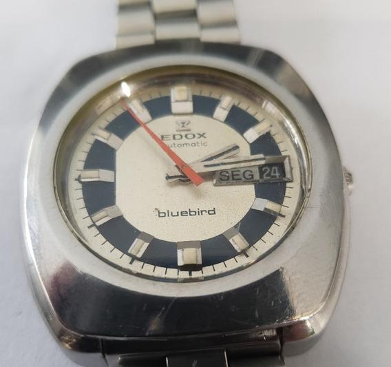 Relógio Vintage Edox BluebirdAutomatico