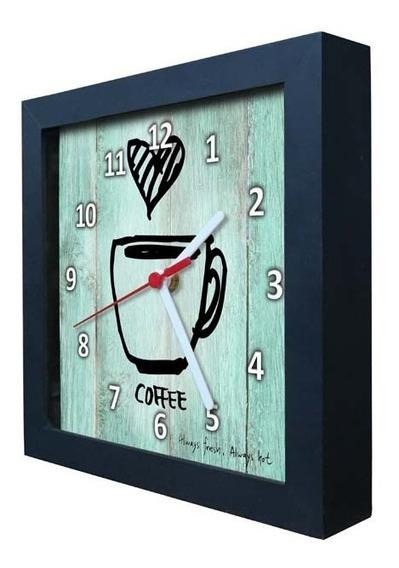 Relógio Decorativo Caixa Alta Tema Café - Qw005