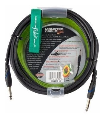 Cabo P10 P10 Instrumento 6,40m Monster Cable Standard S100-i