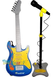 Guitarra Electrica Con Cuerdas Reales Microfono Amplificador