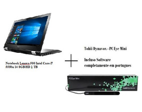 Tobii Eye Tracker + Softwares Pt(br) + Notebook Lenovo 360