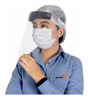 Protetor Facial Face Shield - Kit 10 Peças