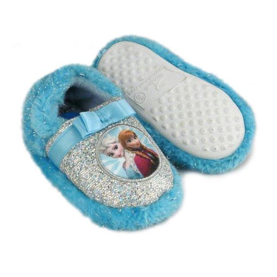 Kit Pantufa Infantil Frozen Azul E Rosa 27/28