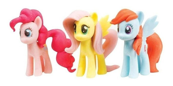 Pack De 3 Gomas 3d My Little Pony Babymovil Hlp09320