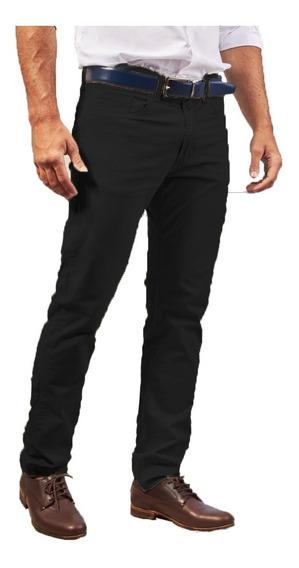 Pantalon Gabardina Semi Chupin Elastizado Hombre Corte Jean.