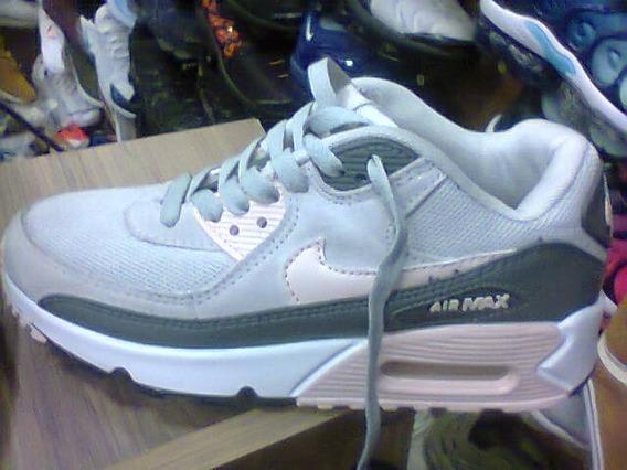 Tenis Nike Air Max 90 Cinza E Rosa Nº36 Original Na Caixa