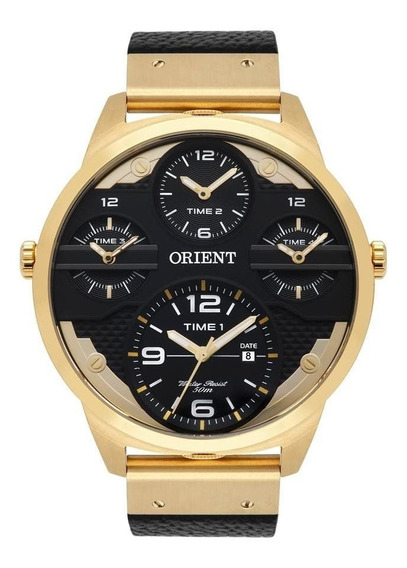 Relógio Orient Masculino Ref: Mgsct001 P2px Big Case Dourado
