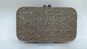 Bolsa Clutch Palha Textura Alça Carteira Festa (m298)