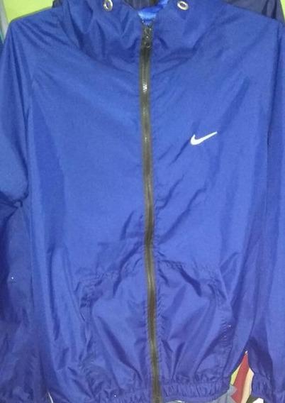 Chaqueta Impermeable Nike Talla M Azul acero Plateado