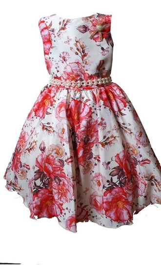 Vestido Infantil Festa Casamento Aniversario Formatura 11345