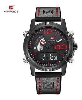 Reloj Hombre Naviforce Nf9095 Calidad Cuero Multifuncion