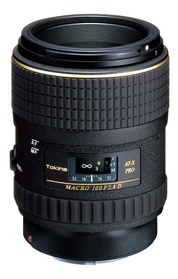 Lente Nikon Tokina 100mm F2.8 Macro 1:1 Pro D Fx At-x M100