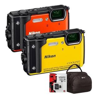 Camara Nikon W300 Sumergible 4k Antigolpe Wifi+ 32gb + Bolso
