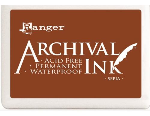 Almohadilla Tinta Archival Ink Sepia Ranger