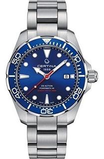 Reloj Automatico Para Hombre Certina Ds Action Diver Blue Di