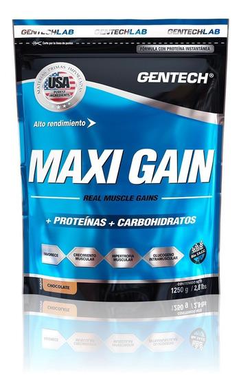 Ganador Muscular Maxi Gain Gentech 1250g Sin Tacc