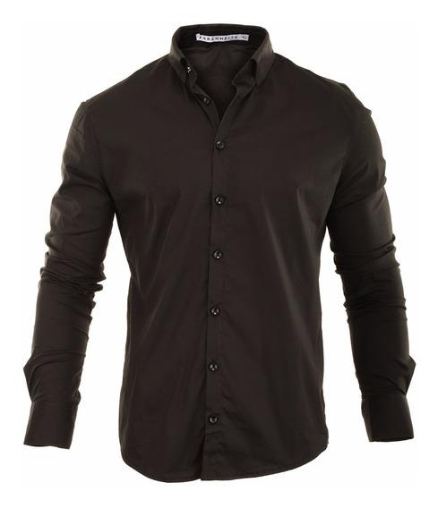Camisa Hombre Farenheite Negra