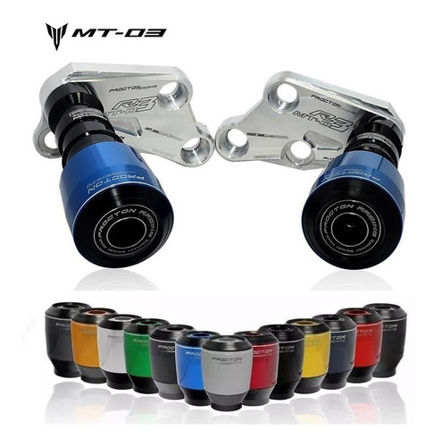 Slider Protetor Motor Procton Yamaha Mt-03 Mt03 2017 A 2019
